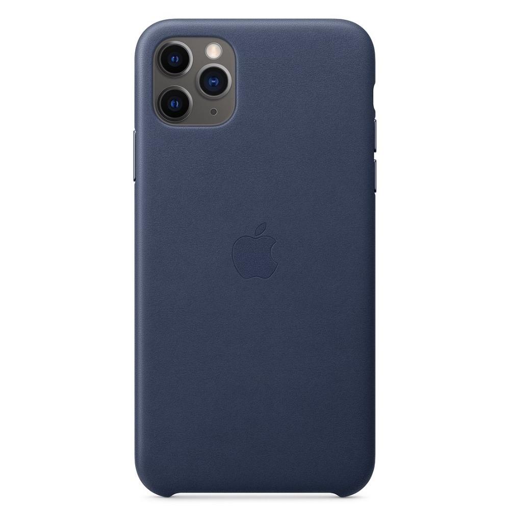 Apple kožený kryt na iPhone 11 Pro Max - Půlnoční modrá
