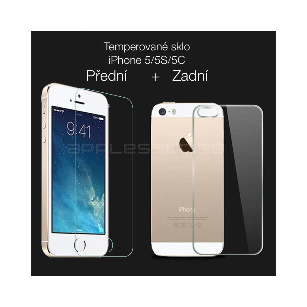 Tvrzené sklo přední/zadní pro iPhone 5/5S/SE