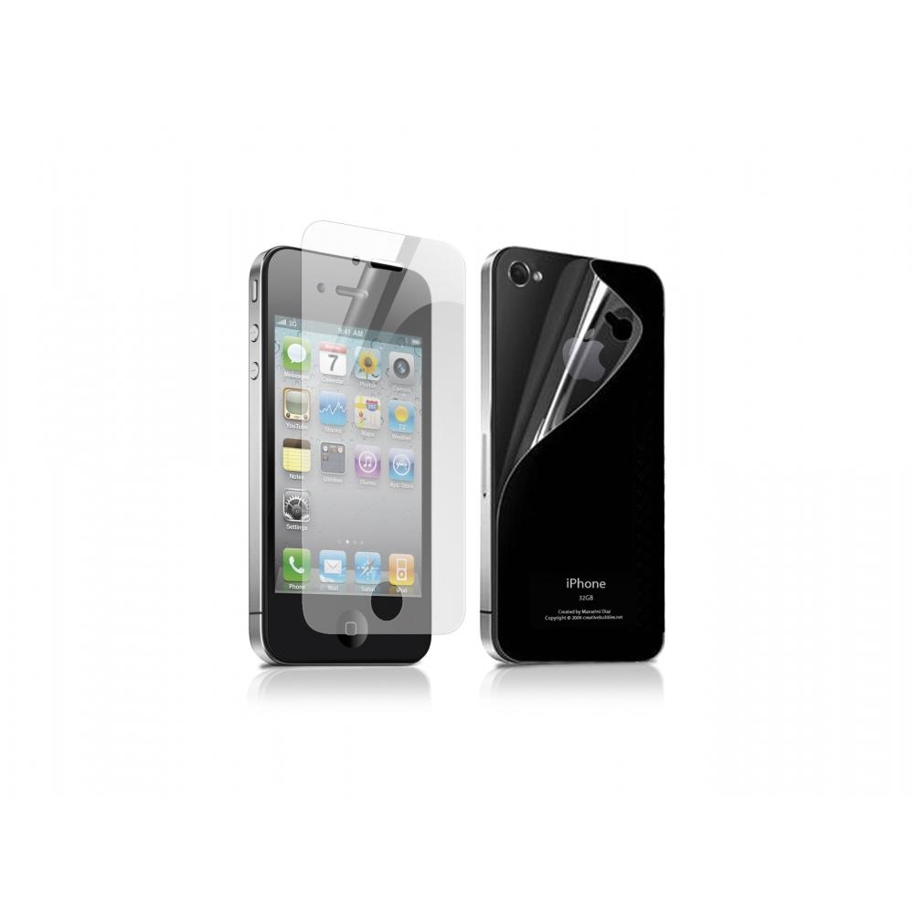 Přední / zadní ochranná antireflexní folie pro iPhone 4,4S