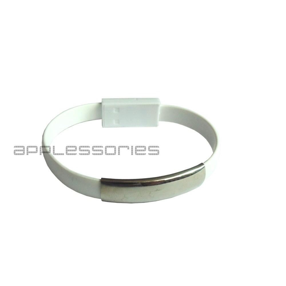 Nabíjecí silikonový náramek pro iPhone, Bílá