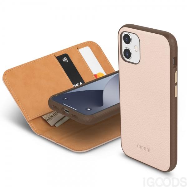 Moshi Overture kryt s odnímatelným pouzdrem pro iPhone 12 Mini - Luna Pink