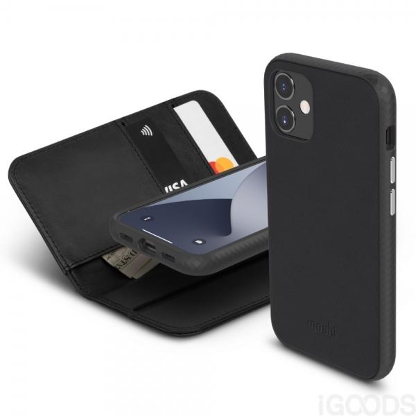 Moshi Overture kryt s odnímatelným pouzdrem pro iPhone 12 Mini - Jet Black