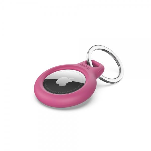 Belkin Bezpečné pouzdro pro AirTag s kroužkem - růžové