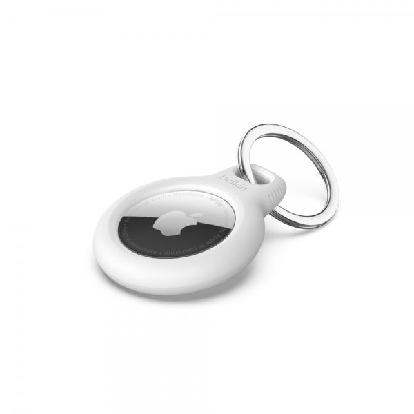 Belkin Bezpečné pouzdro pro AirTag s kroužkem - bílé