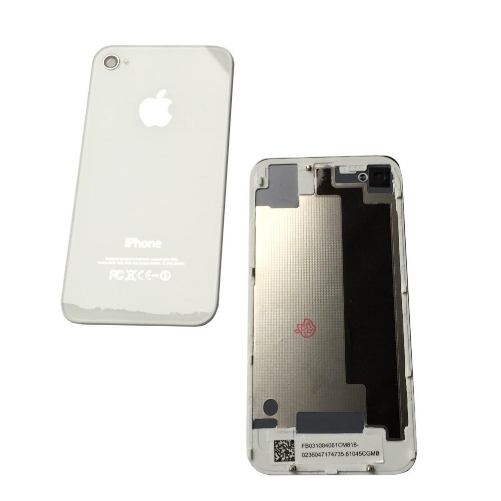 Zadní skleněný kryt pro iPhone 4, Barva Bílá