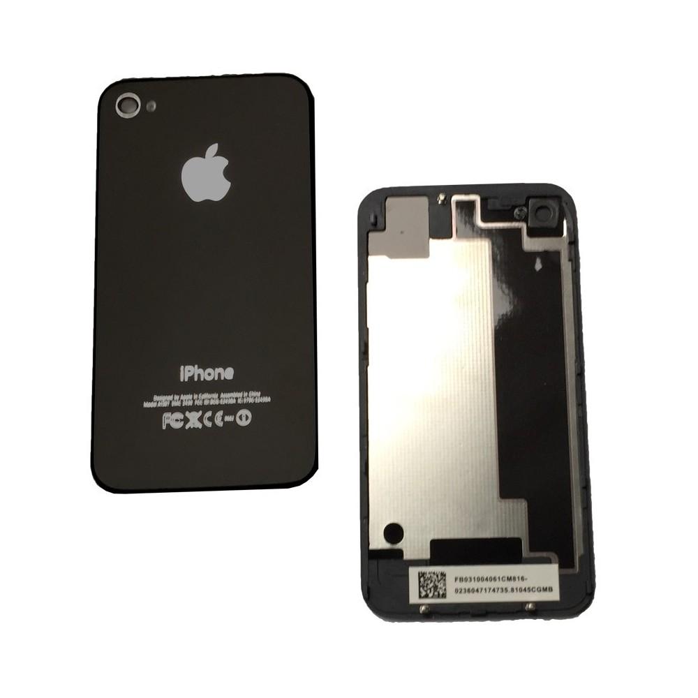 Zadní skleněný kryt pro iPhone 4, Barva Černá