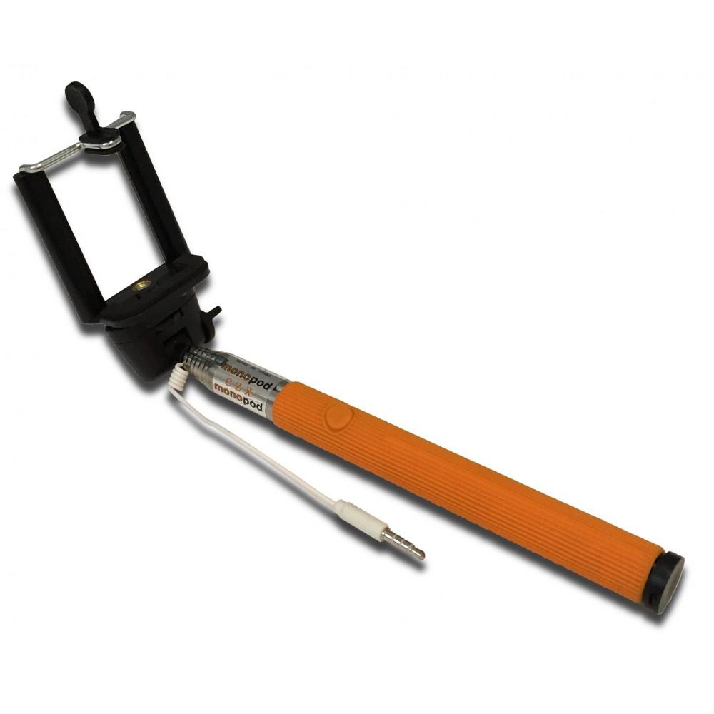 Teleskopická selfie tyč s ovládáním 1m, Oranžová