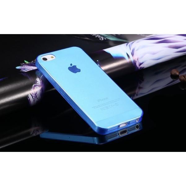 Průhledný kryt pro iPhone 5 a 5S - modrý