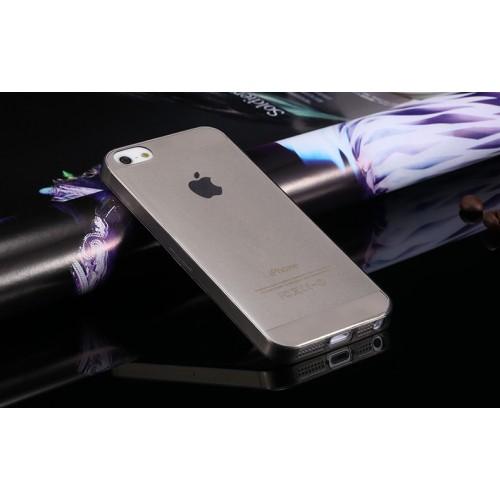 Průhledný kryt pro iPhone 5 a 5S - šedý