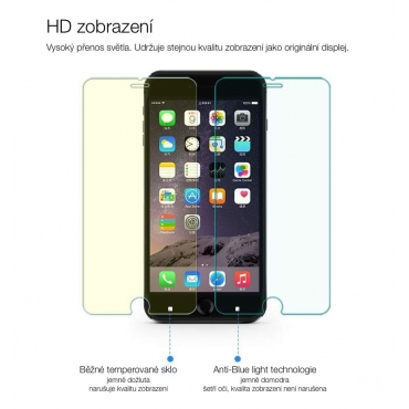 Tvrzené sklo Anti Blue light na iPhone 6/6S Plus