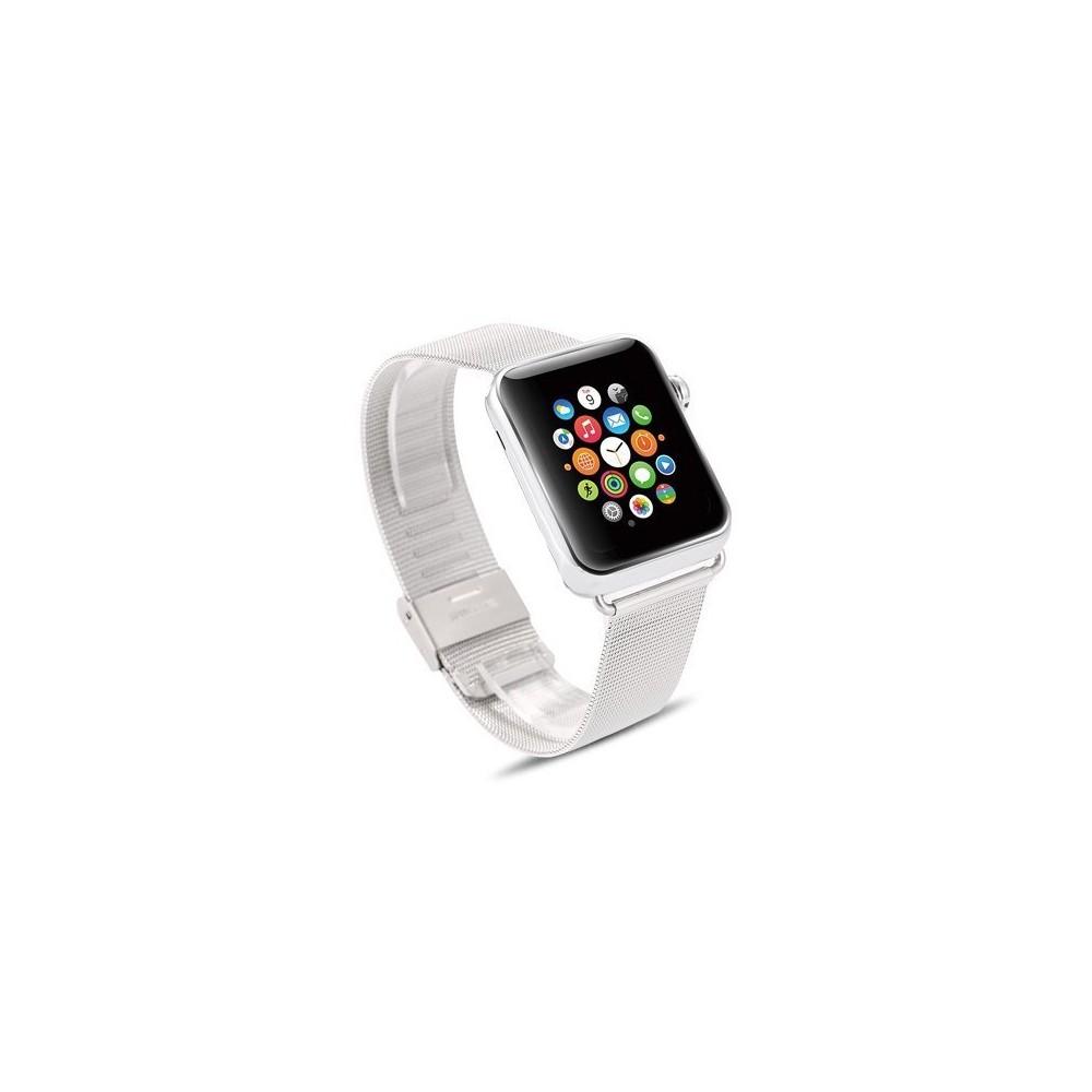 Řemínek Milanese Classic pro Apple Watch - stříbrný, Barva Stříbrná, Velikost 42mm