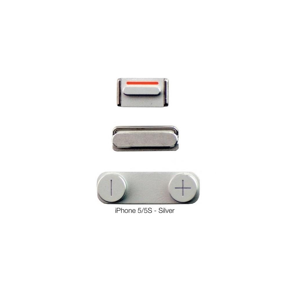 Postranní tlačítka pro iPhone 5/5S/SE, Barva Stříbrná