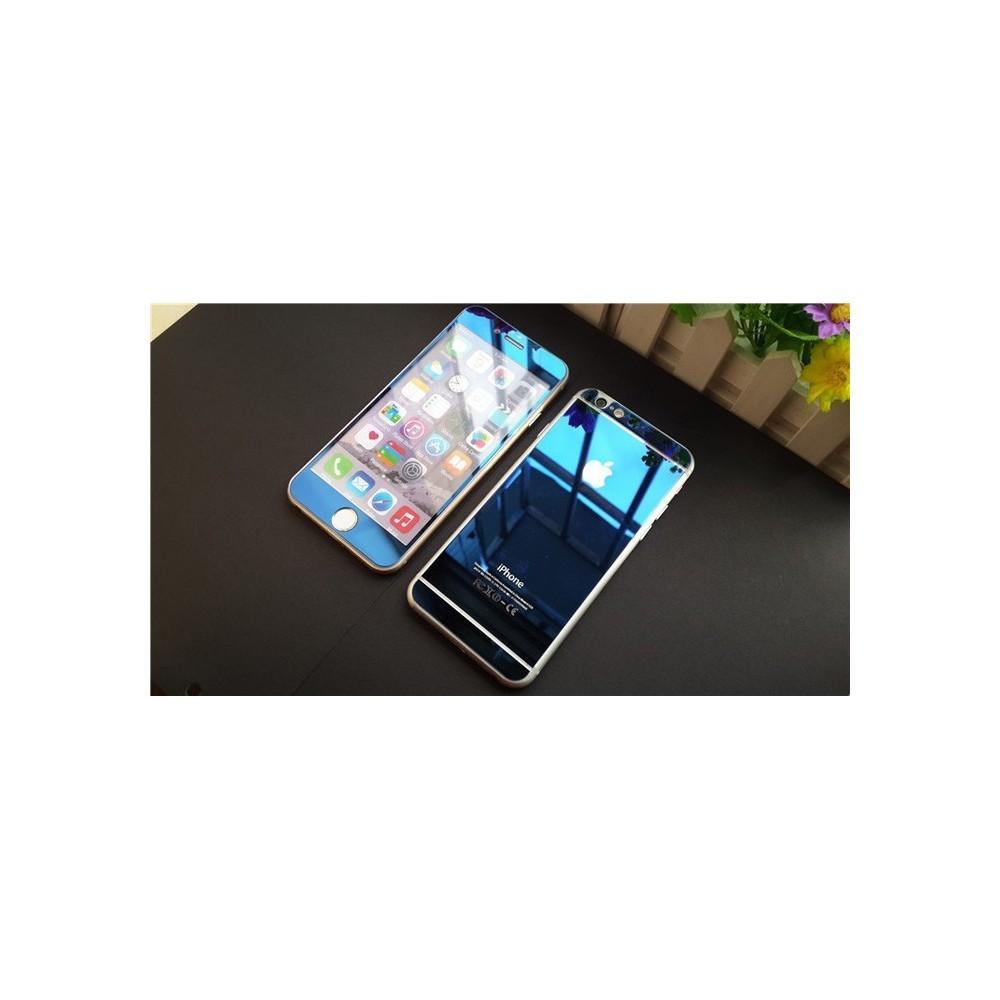 Zrcadlové sklo přední a zadní na iPhone 6/6S Plus, Barva Modrá
