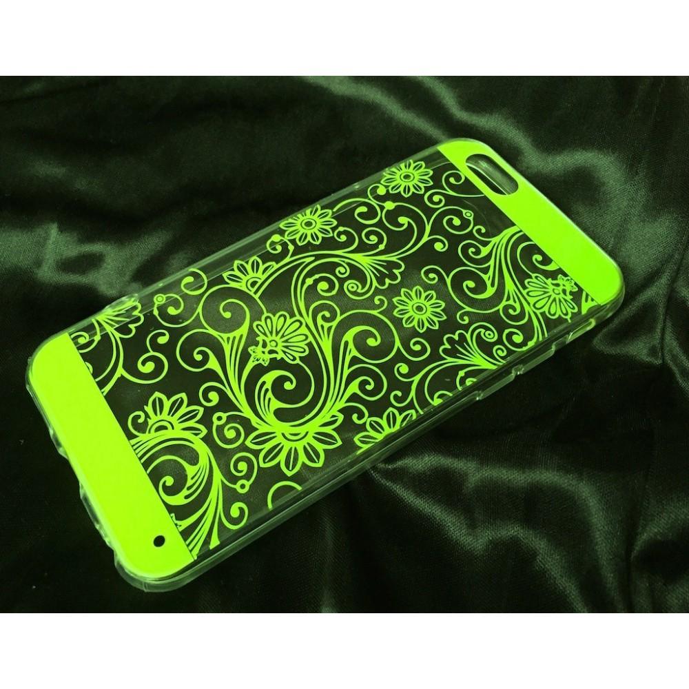 Pouzdro Jelly Case FLOWER iPhone 6/6S, Barva Zelená