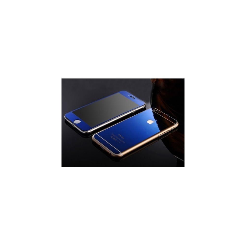 Zrcadlové sklo přední a zadní na iPhone 6/6S, Barva Modrá