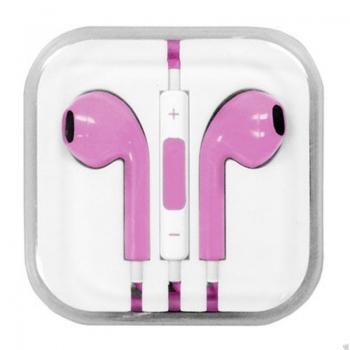 Blue Star earpods sluchátka s mikrofonem růžová