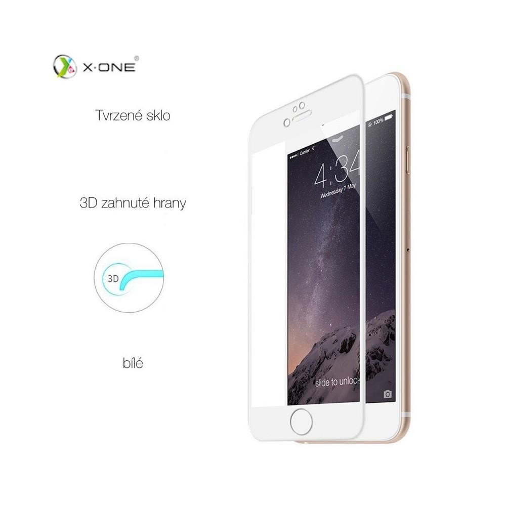 X-One tvrzené sklo 3D pro iPhone 6/6S Plus 3617P, Barva Bílá