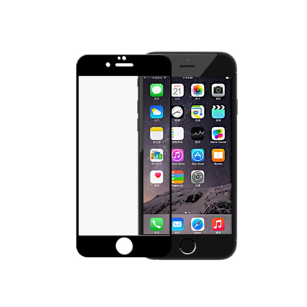 Tvrzené sklo FULL GLASS pro iPhone 6/6S, Barva Černá