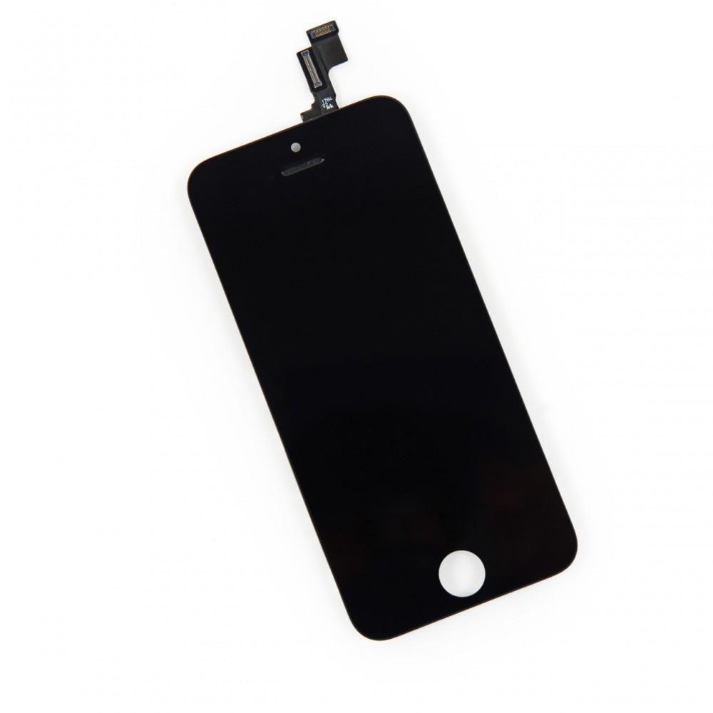 Kompletní LCD panel - displej pro Apple iPhone 5S, Barva Černá, Stav Nový