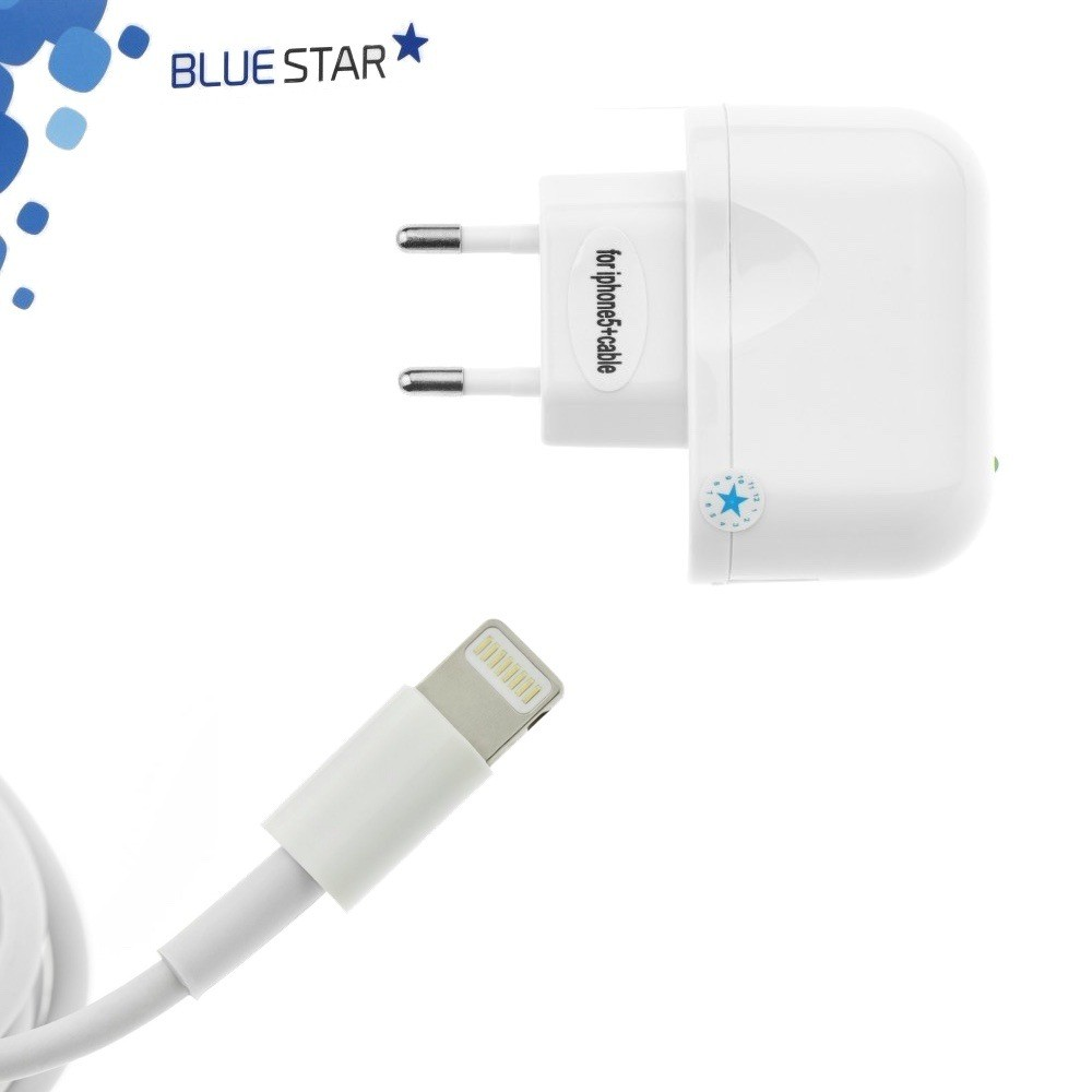 Blue-Star cestovní nabíječka Lightning pro iPhone