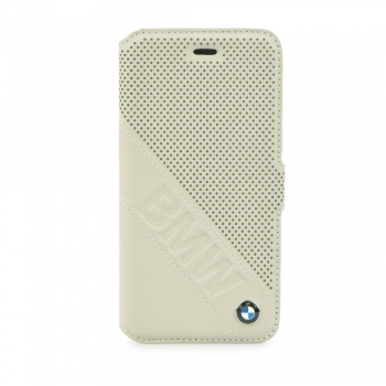 BMW Perforated Leather Book Case for iPhone 6/6S