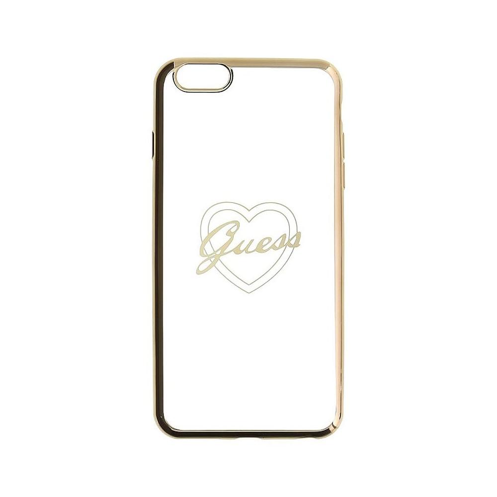 Guess Signature Heart TPU Case pro iPhone 6/6S, Zlatá