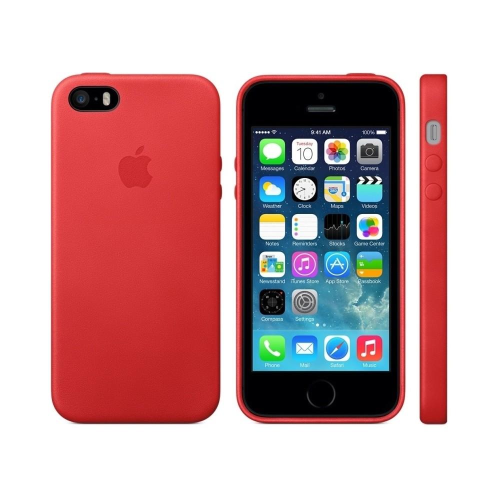Pouzdro Apple MF046FE/A Original iPhone 5/5S červené