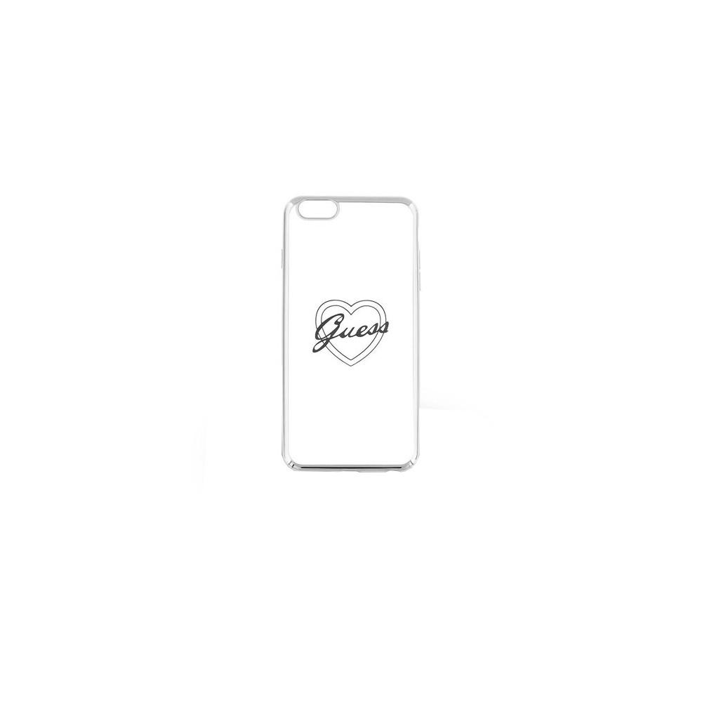 Guess Signature Heart TPU Case pro iPhone 6/6S, Stříbrná
