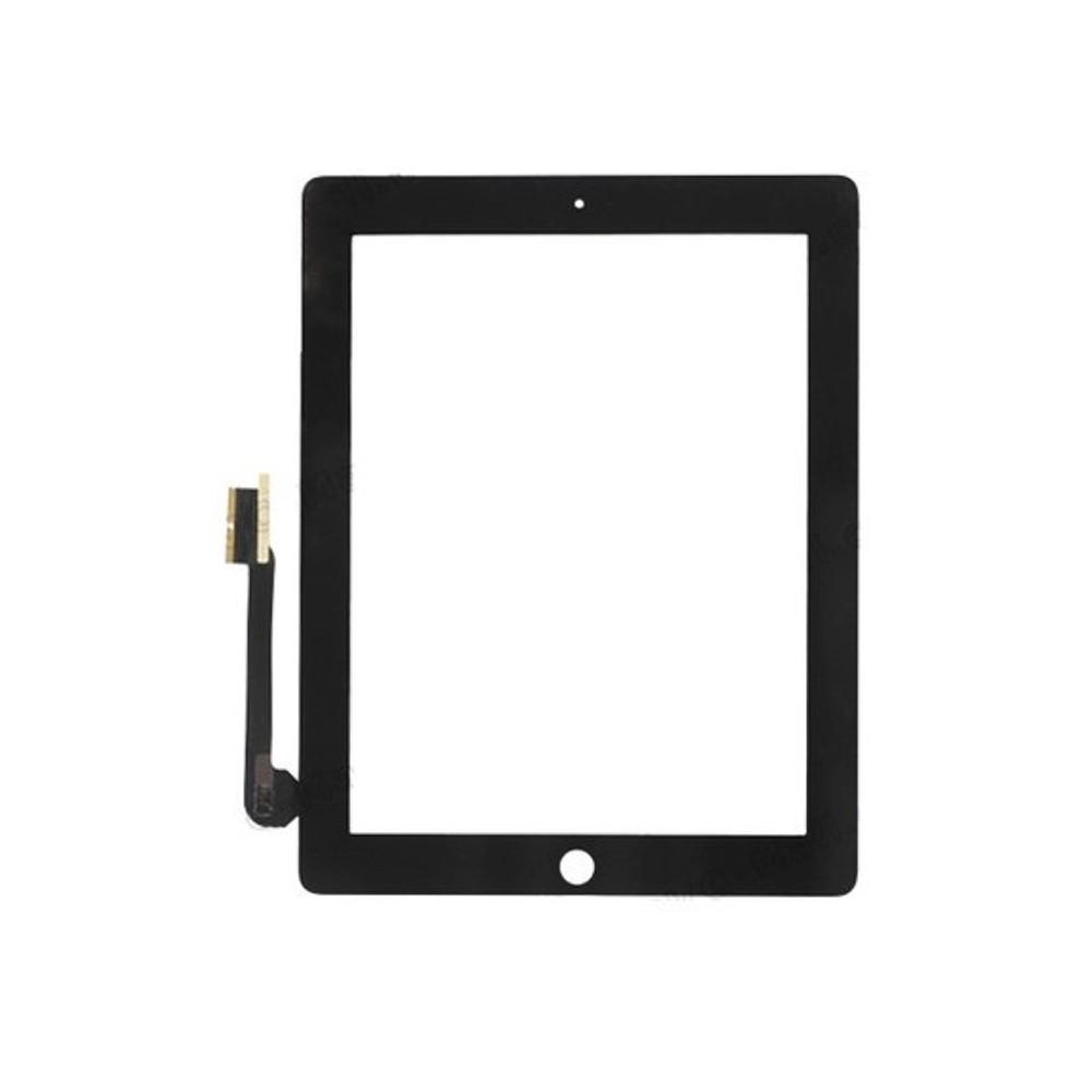 Přední dotykové sklo - digitizer pro iPad 3/4, Barva Černá