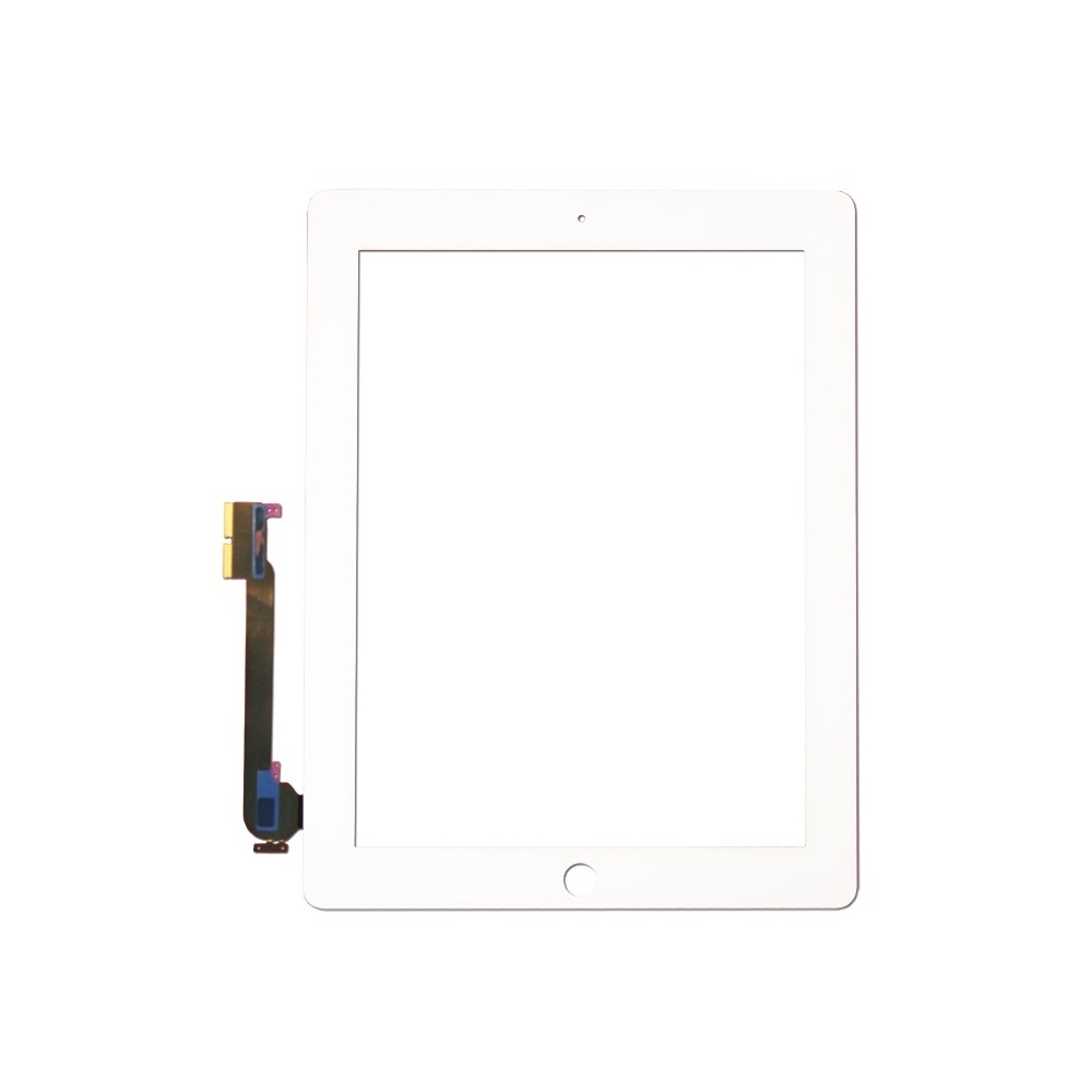 Přední dotykové sklo - digitizer pro iPad 3/4, Barva Bílá