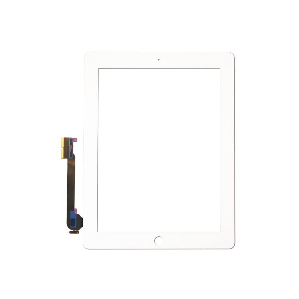 Přední dotykové sklo - digitizer pro iPad 3/4, Bílá