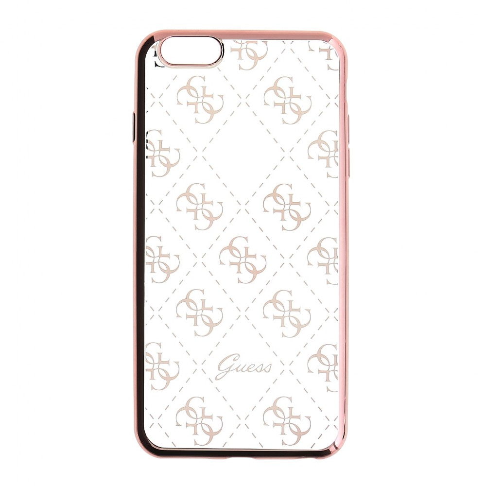 Pouzdro Guess 4G TPU iPhone 5/5S/SE, Rose Gold