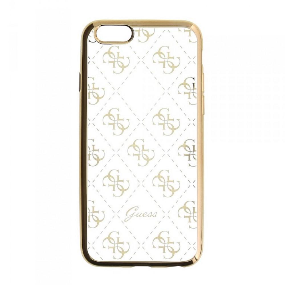 Pouzdro Guess 4G TPU iPhone 5/5S/SE, Zlatá