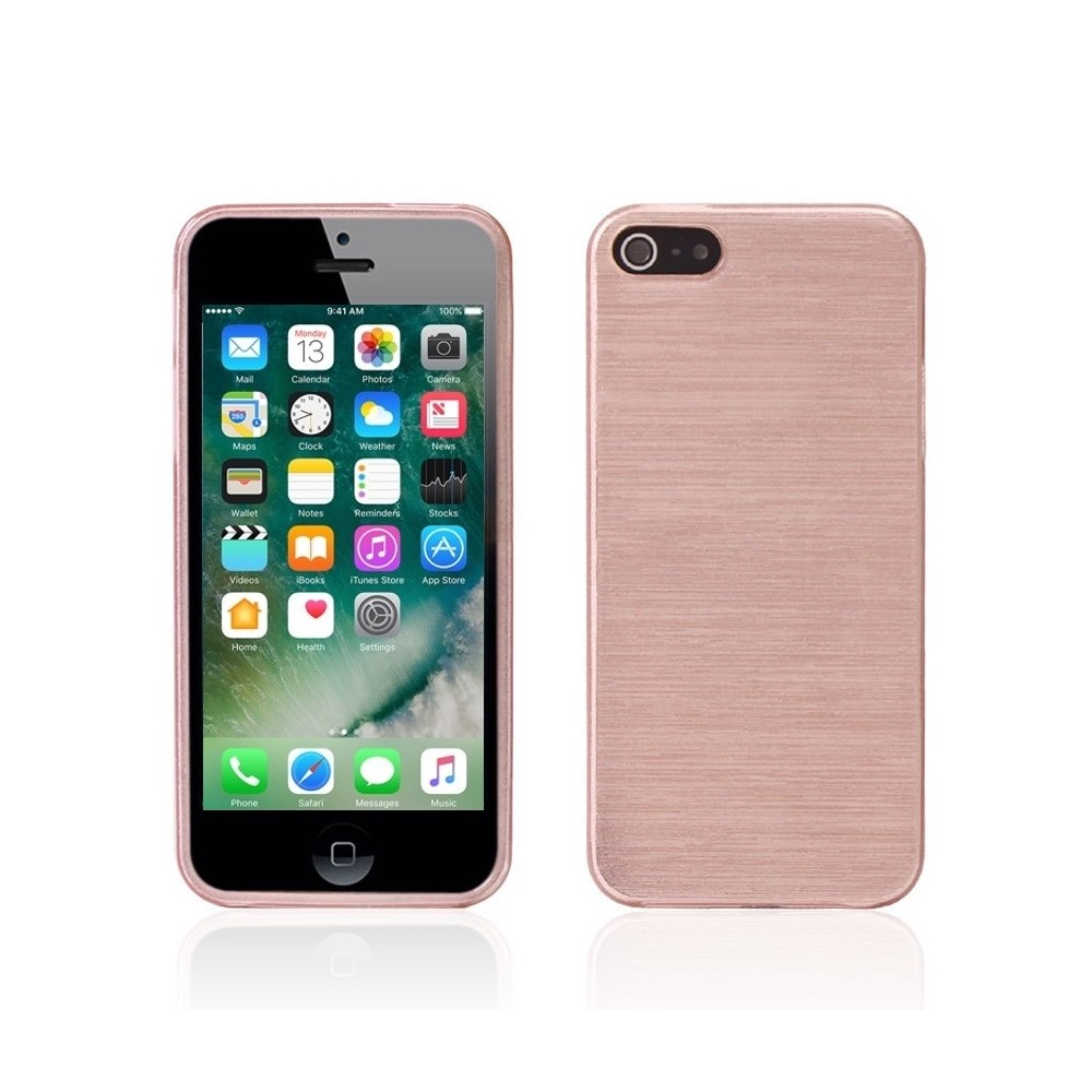 Kryt BRUSHED na iPhone 5/5S/SE, Barva Rose Gold