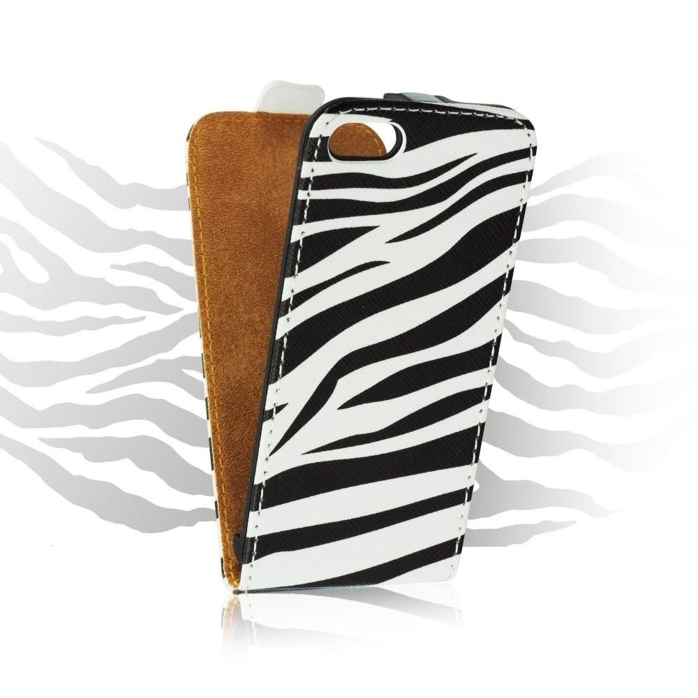 Otevírací pouzdro Zebra pro iPhone 5/5S/SE