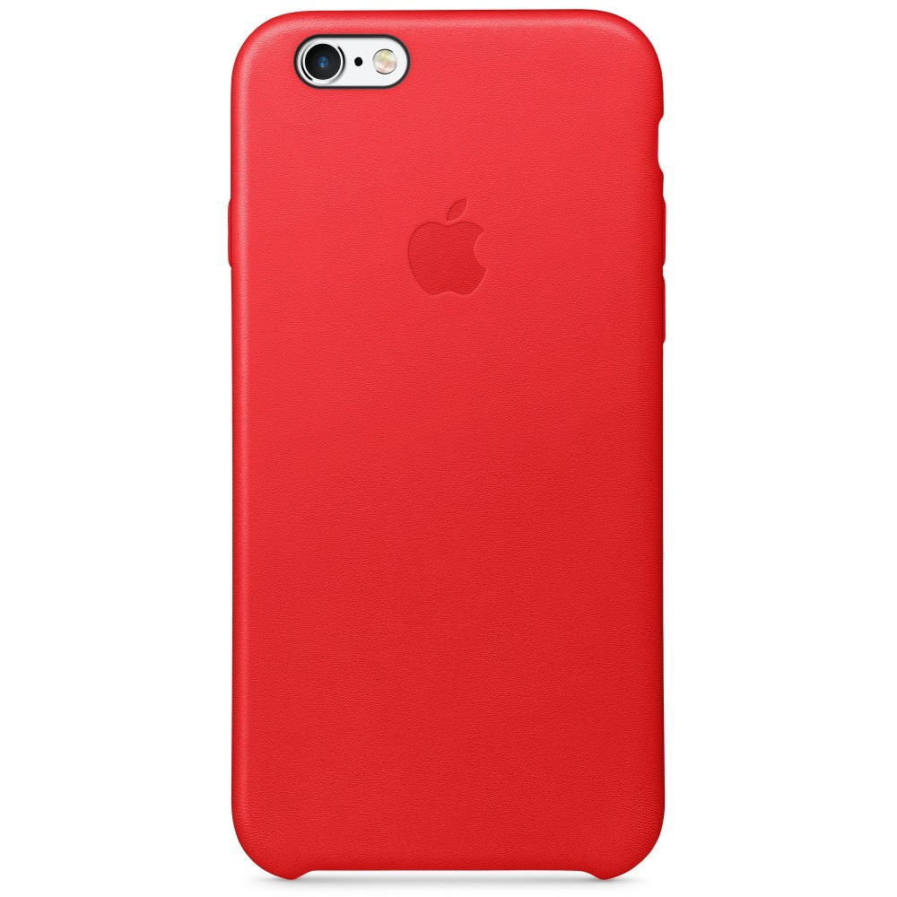 Apple iPhone 6S Leather Case Červený