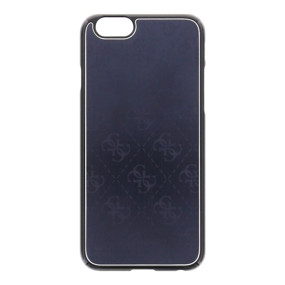 GUESS 4G Signature Aluminium kryt pro iPhone 6/6S, Barva Černá