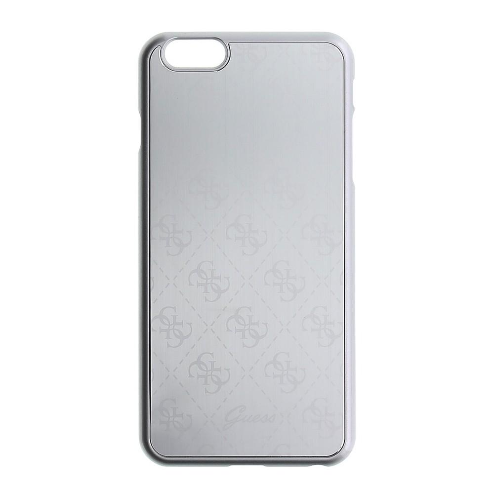 Guess 4G Signature Aluminium kryt pro iPhone 6/6S Plus, Stříbrná