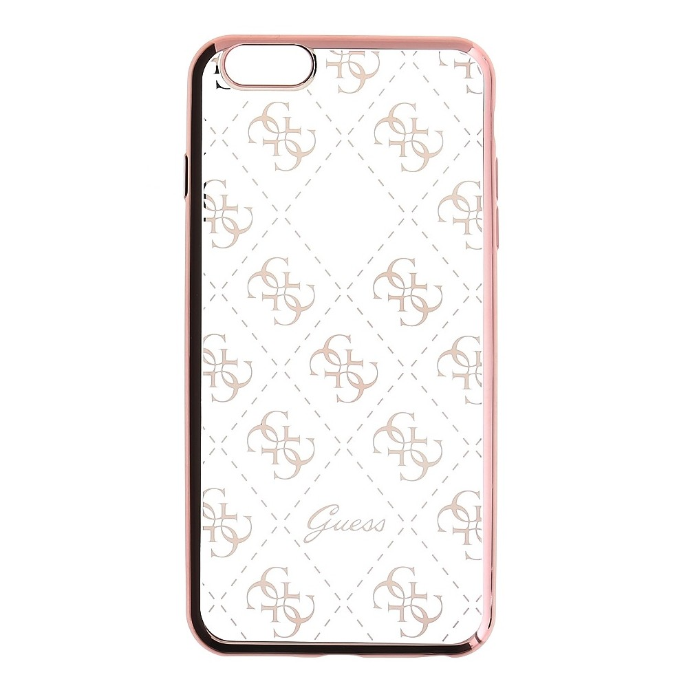 Guess Signature 4G TPU kryt pro iPhone 6/6S, Rose Gold
