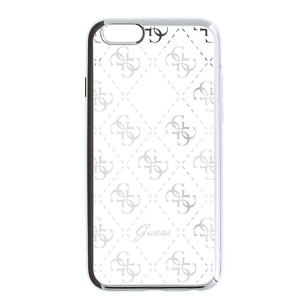 Guess Signature 4G TPU kryt pro iPhone 6/6S, Stříbrná