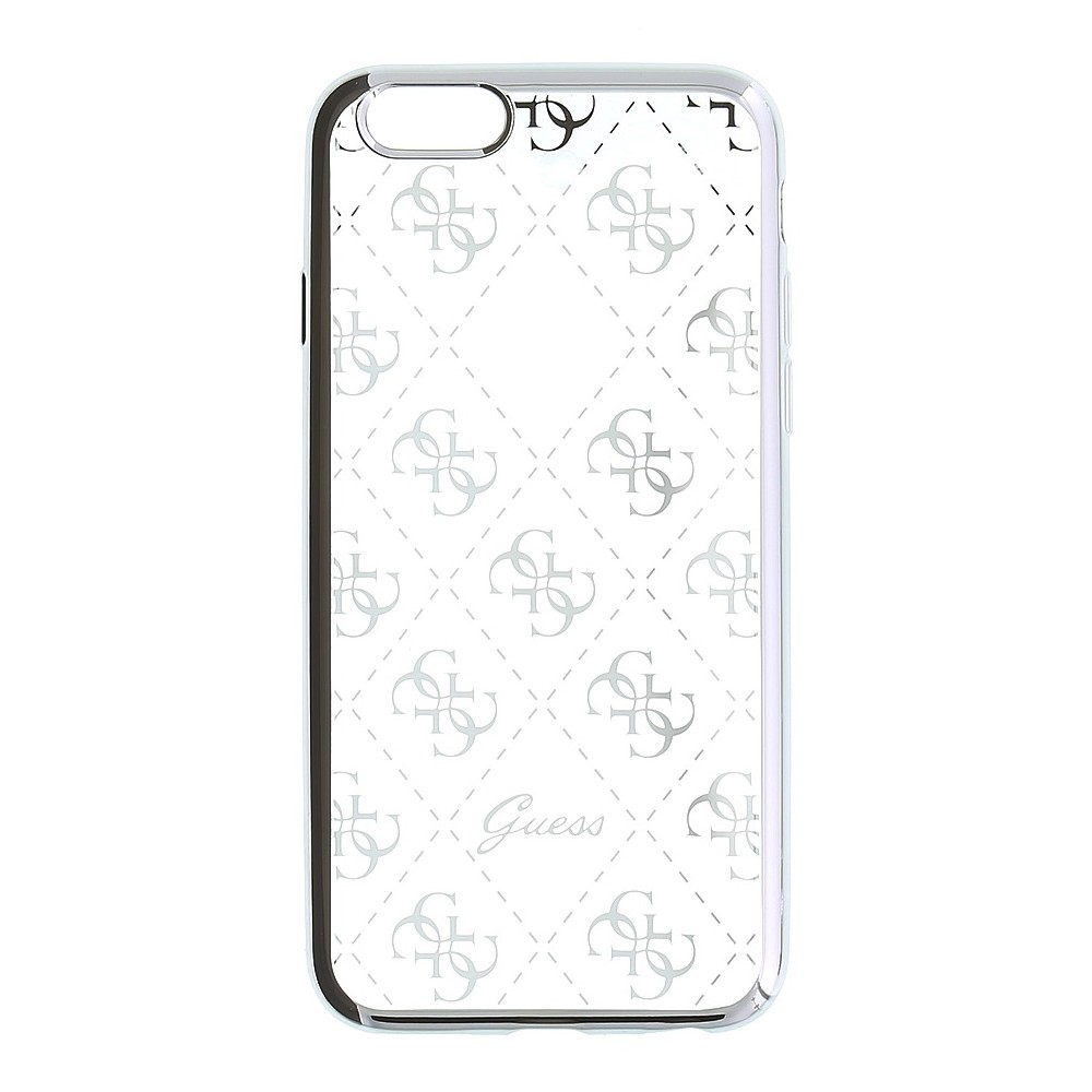Guess Signature 4G TPU kryt pro iPhone 6/6S, Barva Stříbrná