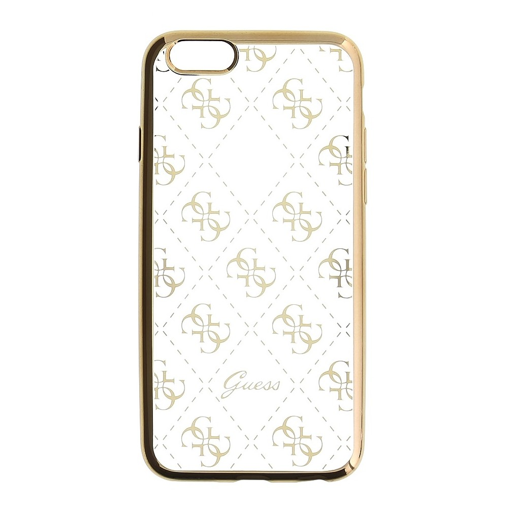 Guess Signature 4G TPU kryt pro iPhone 6/6S, Zlatá