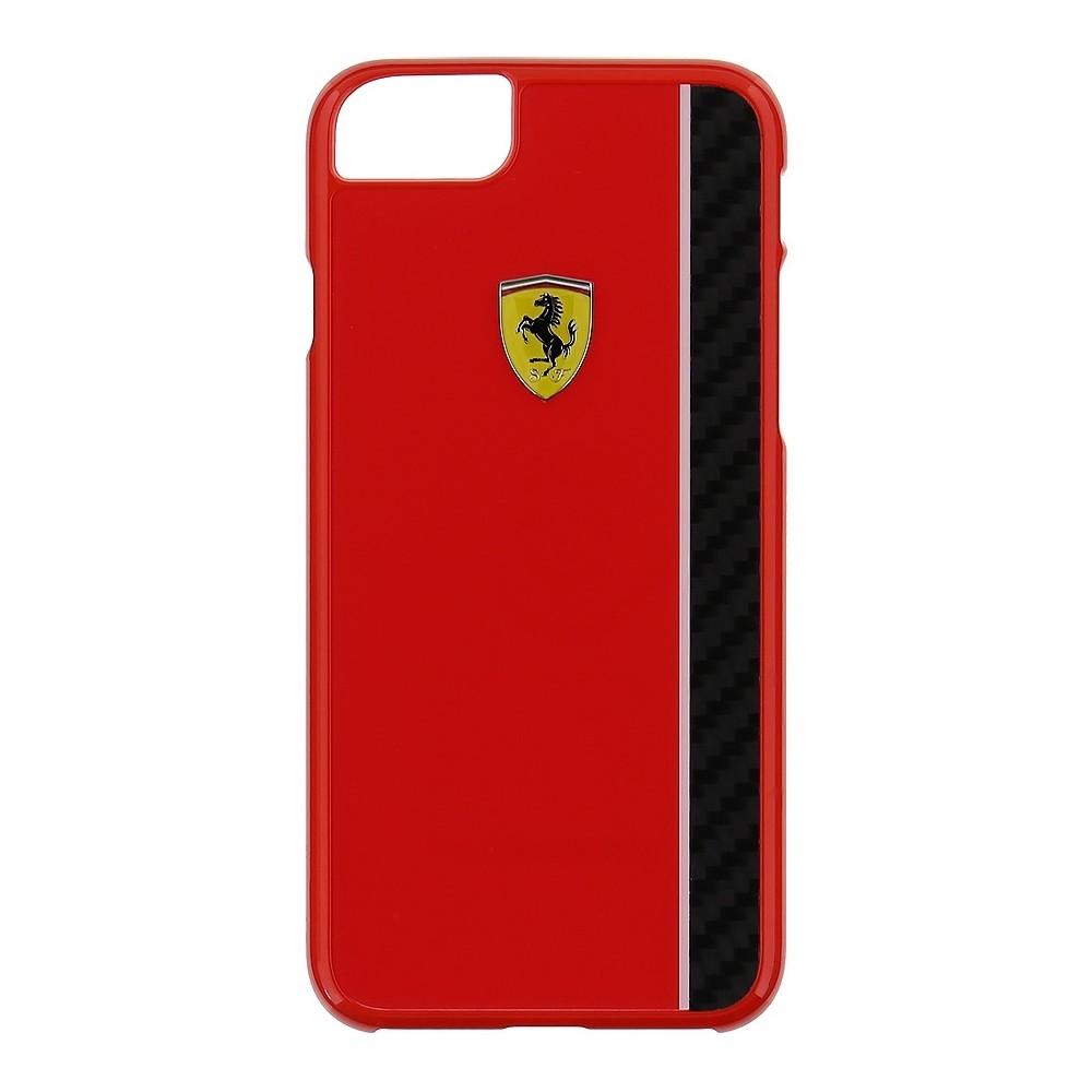 Kryt Ferrari Real Carbon Hard Case pro iPhone 7, Barva Červená
