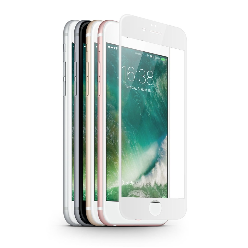 Tvrzené sklo 3D X-ONE na iPhone 7 Plus, Barva Bílá