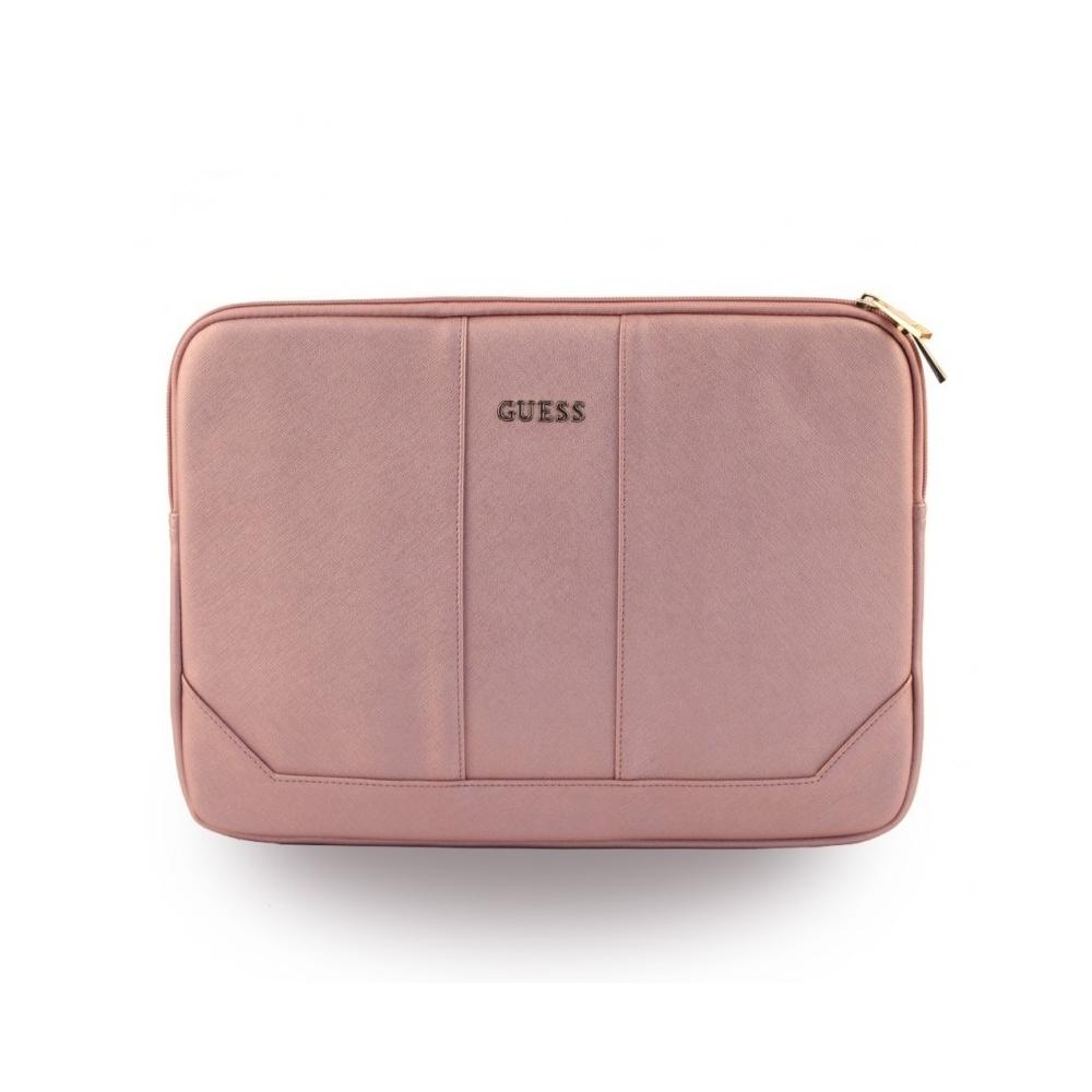 """Pouzdro Guess Saffiano na MacBook 13"""", Barva Rose Gold"""