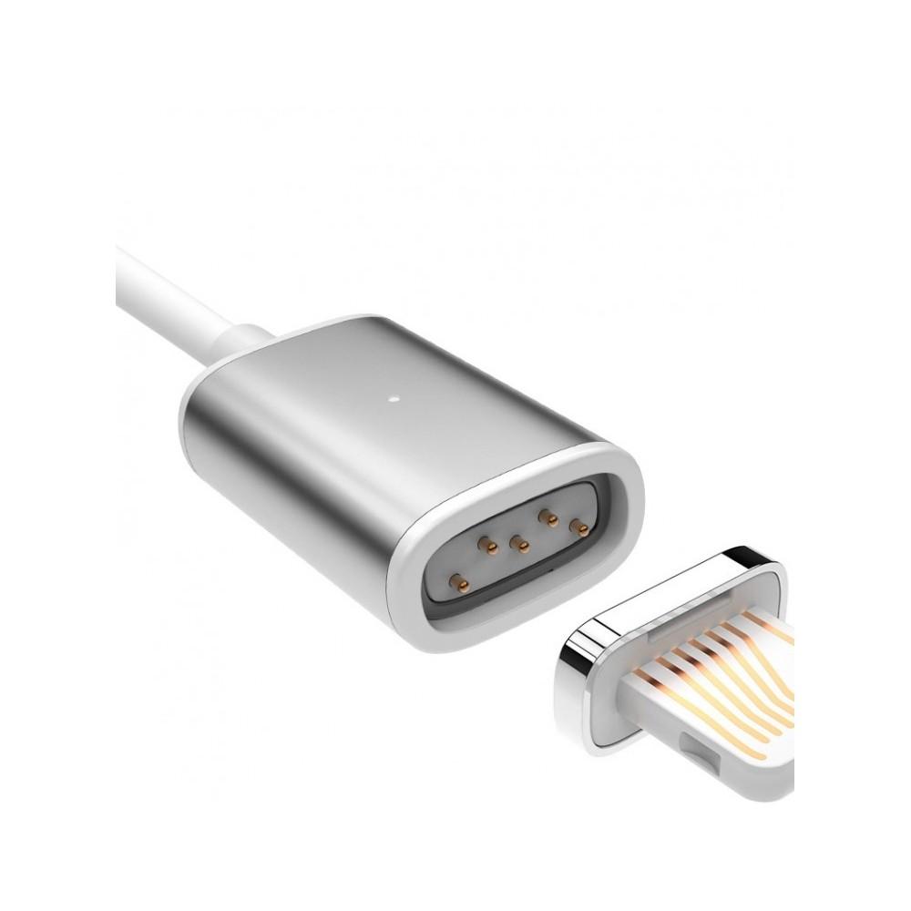 USAMS Magnetický kabel lightning pro iPhone, Barva Šedá