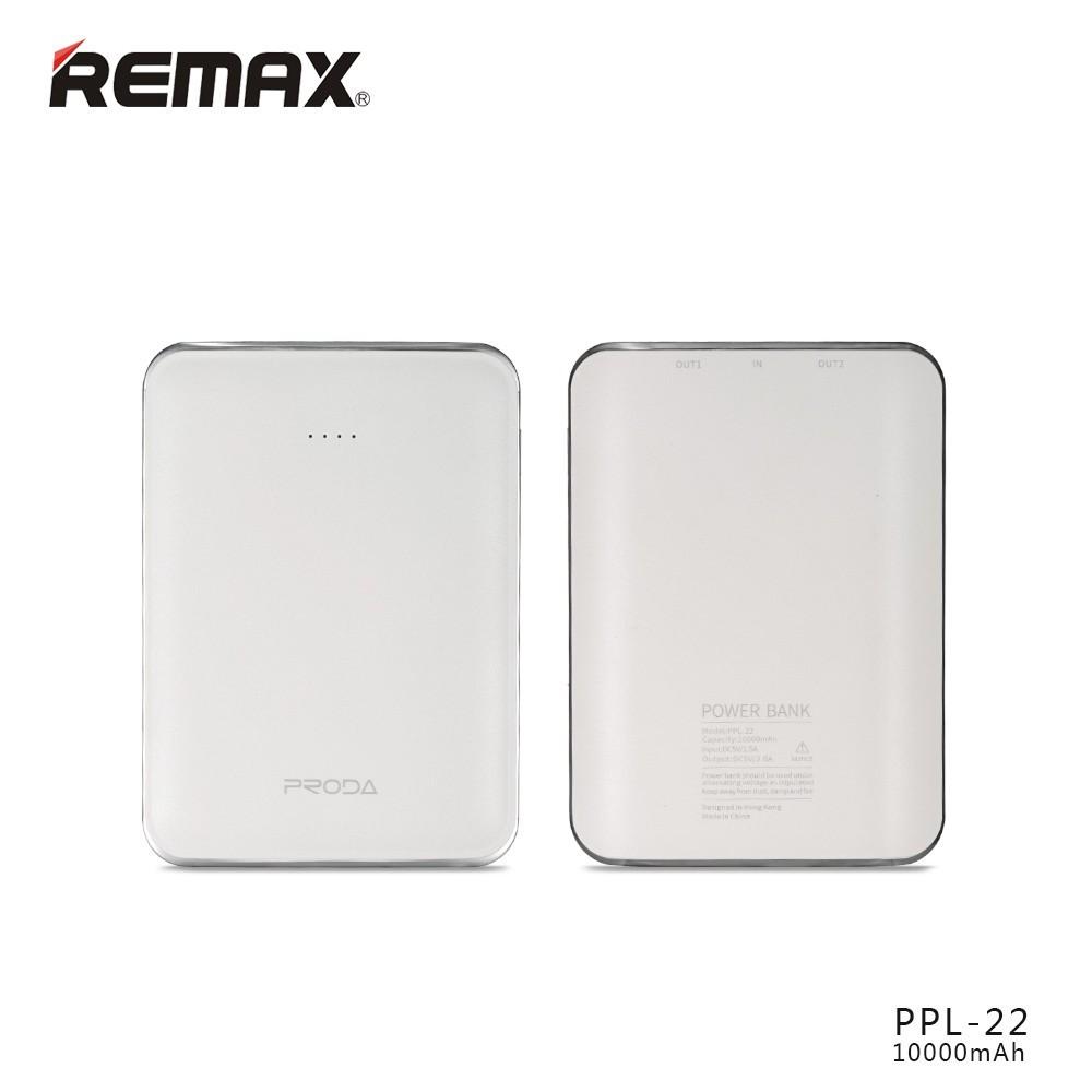 Power Bank REMAX Mink PPL-22 10000mAh, Barva Bílá