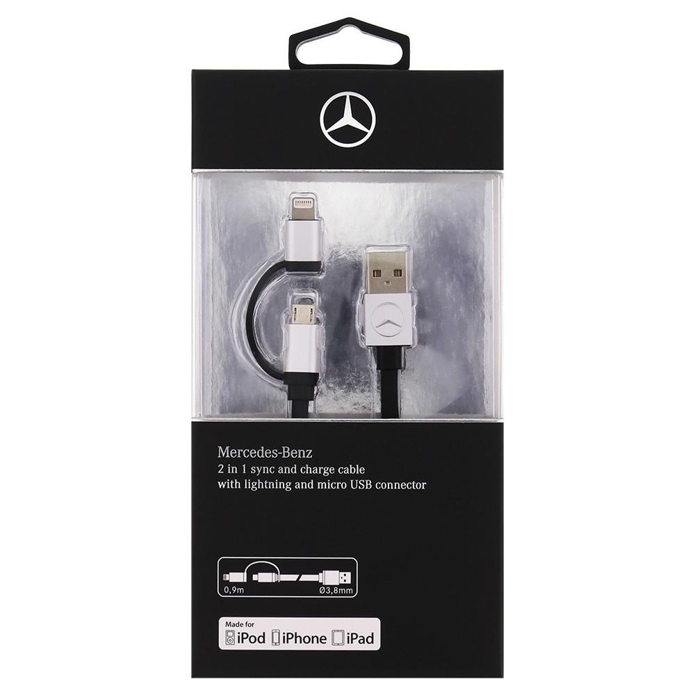 Mercedes Datový Kabel Lightning a microUSB Konektor