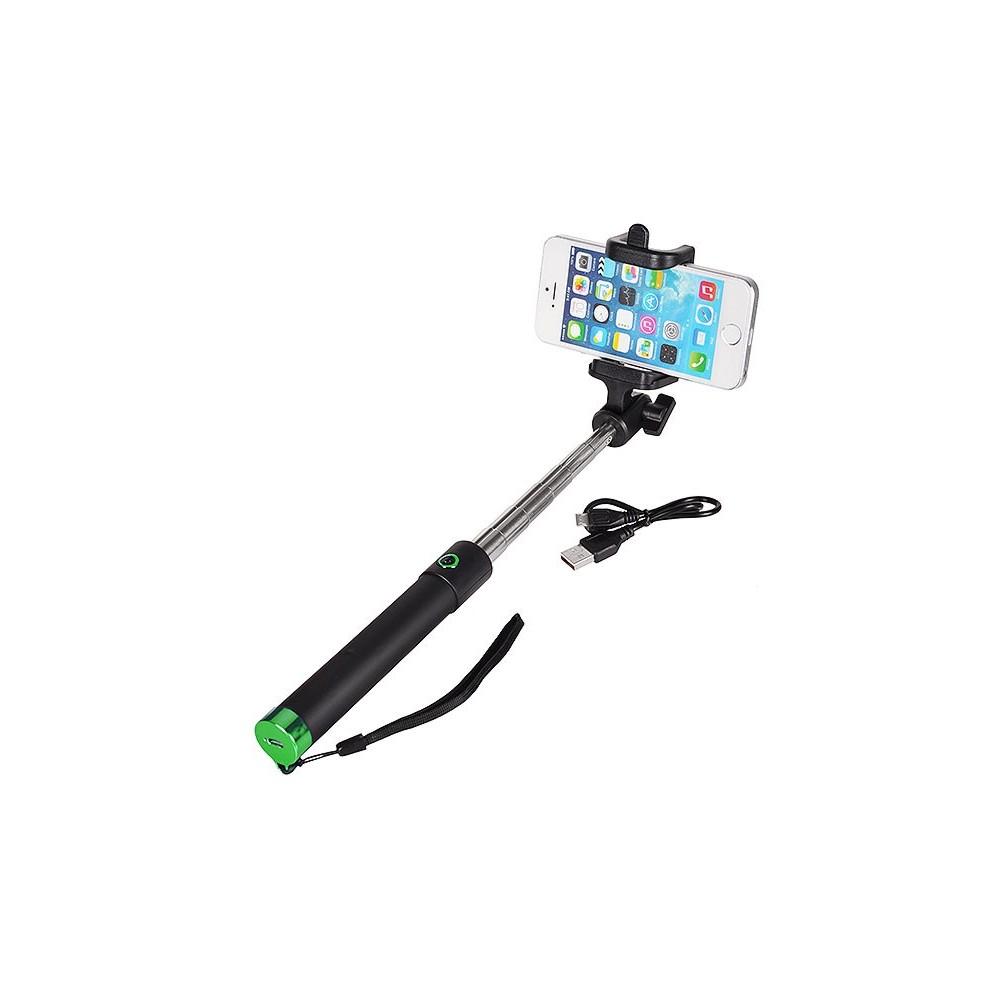 Locust Selfie Stick Bluetooth, Barva Zelená