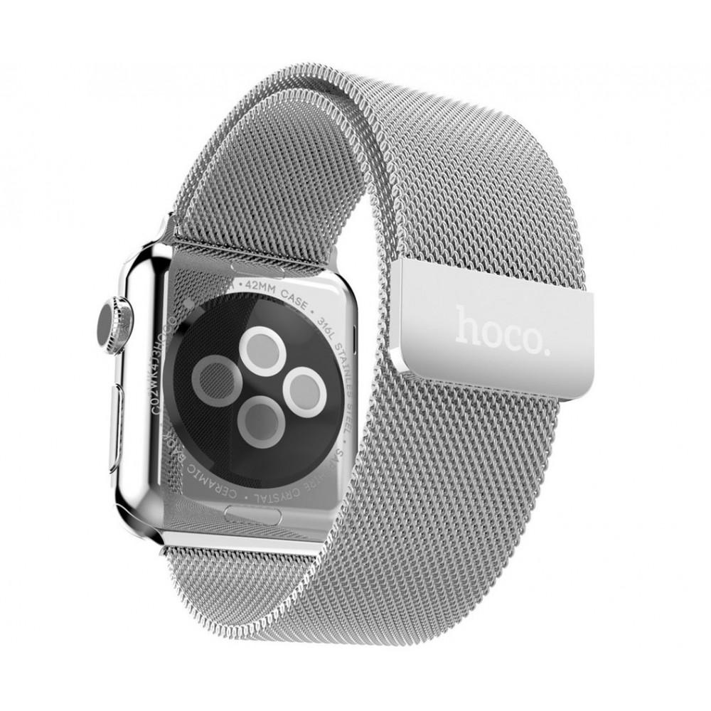 HOCO Milanese Loop řemínek pro Apple Watch (42mm) stříbrný